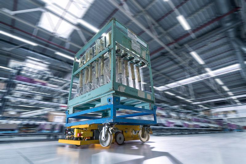 Ein Smart Transport Roboter im Einsatz. Bild: BMW